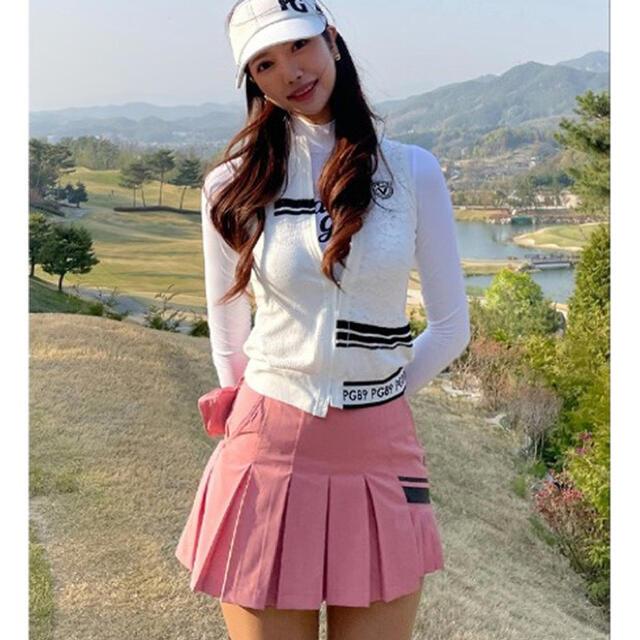 PEARLY GATES(パーリーゲイツ)の【新品】韓国 パーリーゲイツ レディース スカート ゴルフ ゴルフウェア ミニ丈 スポーツ/アウトドアのゴルフ(ウエア)の商品写真