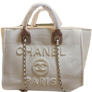 シャネル(CHANEL)のCHANELキャンバスビーチバッグ#C 4(トイレ収納)