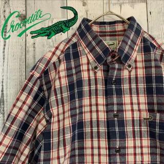 クロコダイルチェックシャツ