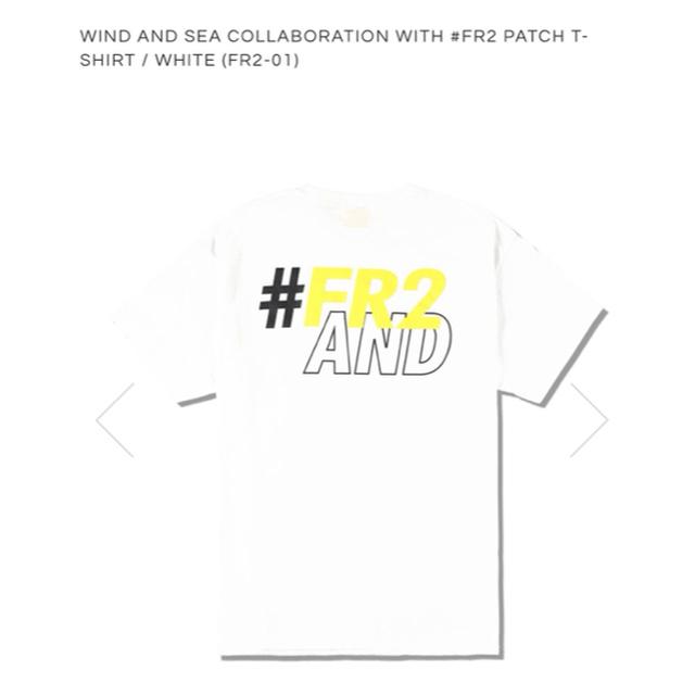 SEA(シー)のWIND AND SEA  #FR2 Patch T-shirt / WHITE メンズのトップス(Tシャツ/カットソー(半袖/袖なし))の商品写真