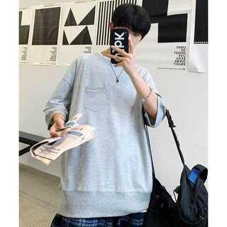 ハレ(HARE)の【neos】ビッグシルエット クールマックス リブ モックネック Tシャツ(Tシャツ/カットソー(半袖/袖なし))