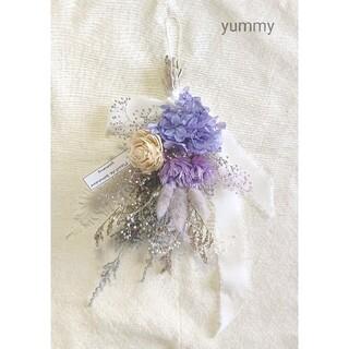 ajisai mini swag(gray/lavender)(ドライフラワー)