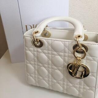 Christian Dior - DIOR レディディオール ハンドバッグ 白 ホワイト 美品