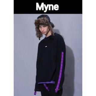 MYne 18aw ビッグシルエットテープ プルオーバースウェット ボックスロゴ