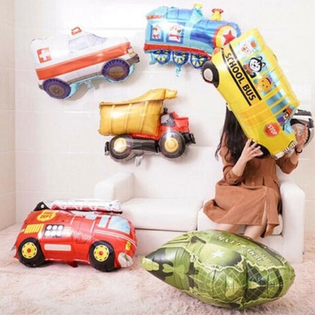 誕生日 飾り 男の子 乗り物 はたらくくるま バルーン★ 壁の飾り 働く車 装飾 キッズ/ベビー/マタニティのメモリアル/セレモニー用品(その他)の商品写真