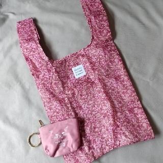 snidel - SNIDEL HOME 花柄エコバッグ&ネコ刺繍ミニポーチ sweet付録