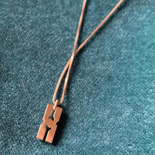 Gucci(グッチ)のGUCCI 日本限定インフィニティ ネックレスk18  未使用品 レディースのアクセサリー(ネックレス)の商品写真