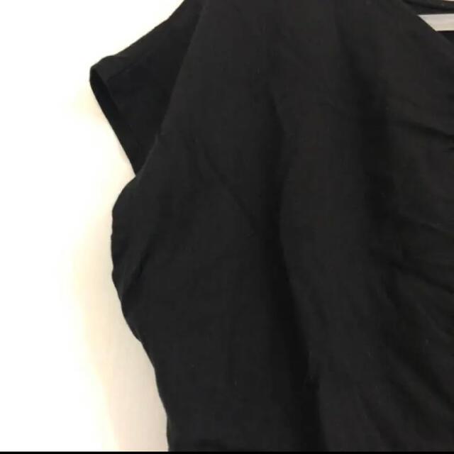 UNIQLO(ユニクロ)のユニクロ リボンデザイントップス レディースのトップス(カットソー(半袖/袖なし))の商品写真