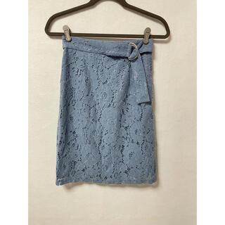 ミューズ(Mew's)のMEW'S REFINED CLOTHES レーススカート ウエストベルト M(ひざ丈スカート)
