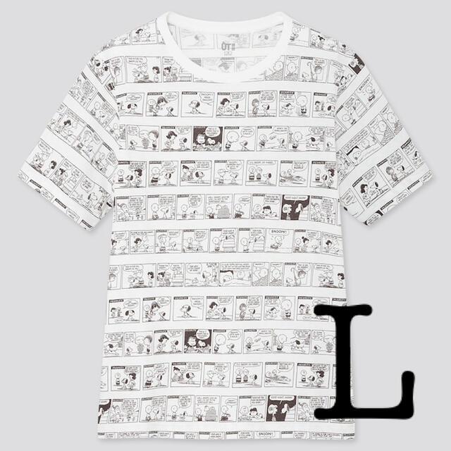 UNIQLO(ユニクロ)のユニクロ×スヌーピー ピーナッツ 70 UT 半袖 Tシャツ Lサイズ レディースのトップス(Tシャツ(半袖/袖なし))の商品写真