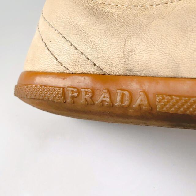 PRADA(プラダ)のPRADAプラダ スニーカー 36 ローカット レザー ベージュ レディース レディースの靴/シューズ(スニーカー)の商品写真