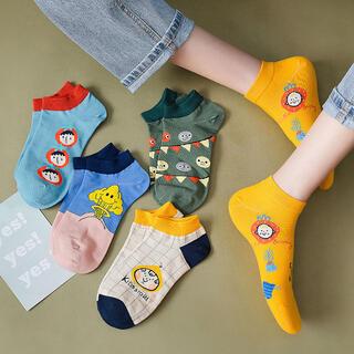 新品未使用 まとめ売り5足セット かわいい レディース靴下 韓国ソックス お洒落