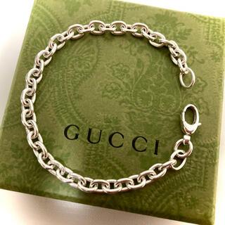 グッチ(Gucci)の正規品 グッチ あずきチェーンリンクブレスレット シルバー925(size18)(ブレスレット)