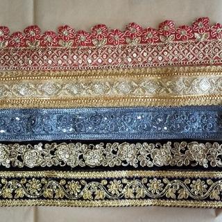 インドの刺繍リボン  20cm×5種類③
