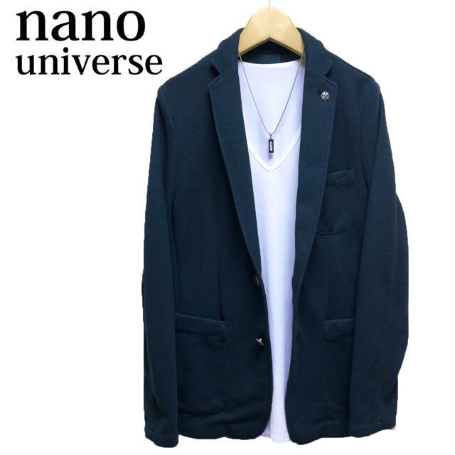 nano・universe(ナノユニバース)のnano universe テーラードジャケット 青 カットジャケット メンズのジャケット/アウター(テーラードジャケット)の商品写真
