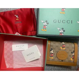 Gucci - グッチGUCCI ミッキーコラボ 折り財布