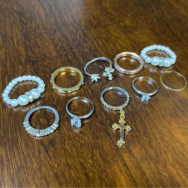 リング/ピンキーリング  おまとめ10個セット レディースのアクセサリー(リング(指輪))の商品写真