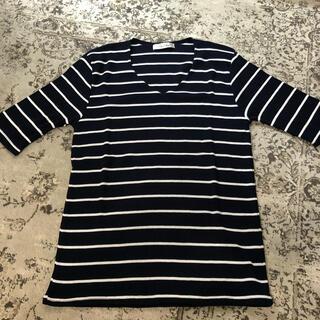 シマムラ(しまむら)のボーダーリブTシャツ 新品未使用タグなし(Tシャツ(半袖/袖なし))