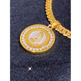 大人気マリアゴールド18kGF喜平タイプのネックレス刻印有り