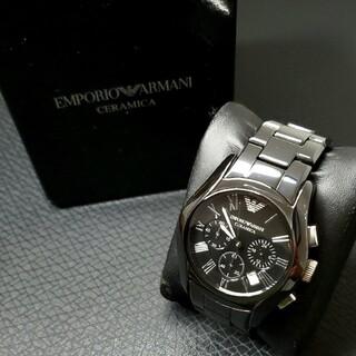 エンポリオアルマーニ(Emporio Armani)の極美品 エンポリオ・アルマーニ 「セラミカ」AR1400 クロノグラフ(腕時計(アナログ))