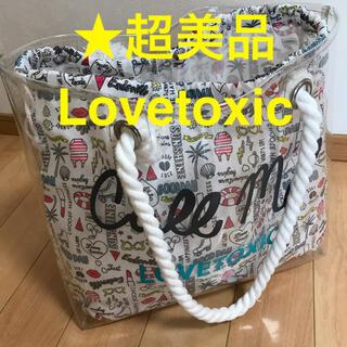 lovetoxic - ★超美品 Lovetoxic ラブトキ プールバッグ トートバッグ クリアバッグ