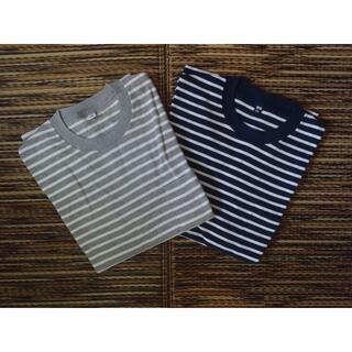 ユニクロ(UNIQLO)のUNIQLO ユニクロ ボーダー ポケット Tシャツ 2枚セット 未使用品(Tシャツ/カットソー(半袖/袖なし))