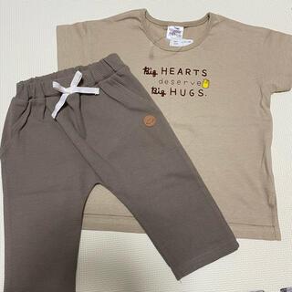 シマムラ(しまむら)のプーさんTシャツ ワッフルパンツ 上下セット(Tシャツ/カットソー)