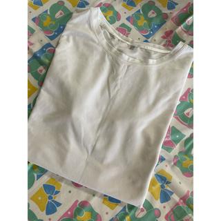 シマムラ(しまむら)のオーガニックコットン シンプル 無地 Tシャツ ホワイト(Tシャツ(半袖/袖なし))