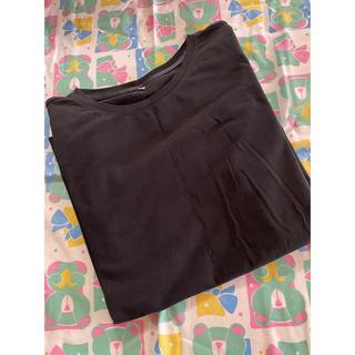 シマムラ(しまむら)のオーガニックコットン シンプル 無地 Tシャツ ブラック(Tシャツ(半袖/袖なし))