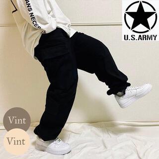 米軍実物 ミリタリー カーゴ パンツ ドローコード 特殊部隊 裾絞り ダブル二ー