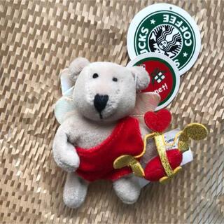 スターバックスコーヒー(Starbucks Coffee)のスターバックス バレンタイン キューピット ベアリスタ  ミニ 旧ロゴ(ぬいぐるみ)