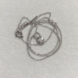 ネックレスとネックレスチャーム 4℃ ぷっくりハートダイヤモンド