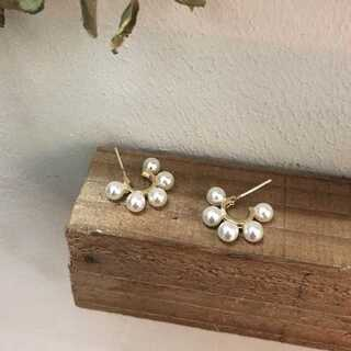 Mila Owen - #884 import pierce : choco pearl gold