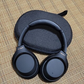 ソニー(SONY)のSONY WH-1000XM4 ノイズキャンセリングヘッドホン ブラック 美品(ヘッドフォン/イヤフォン)