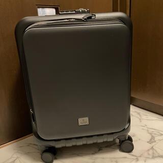 イデアインターナショナル(I.D.E.A international)のMilesto キャリー 機内持込可能 未使用 タグ有り ブラック スーツケース(旅行用品)