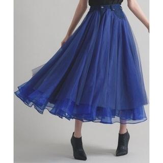 la belle Etude - 【LA BELLE ETUDE】デニムドッキングボリュームチュールスカート