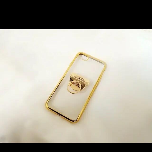 送料無料 iPhoneケース!くまリング プレセント 人気 可愛い 6457 スマホ/家電/カメラのスマホアクセサリー(iPhoneケース)の商品写真