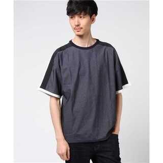ハレ(HARE)のLui's(ルイス) 袖 ライン 切替 Tシャツ(Tシャツ/カットソー(半袖/袖なし))