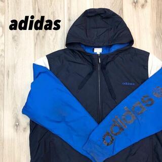 アディダス(adidas)のadidas ナイロンフリースパーカー(ナイロンジャケット)