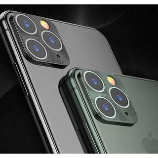 【A30】iPhone11Pro 保護カバー カメラレンズ (黒)(その他)
