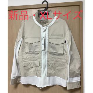 GU - GU UNDERCOVER ミリタリージャケット ベージュ XLサイズ