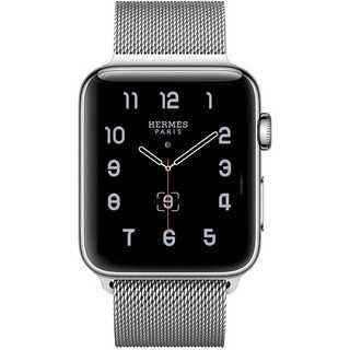 【B34】Apple Watch ミラネーゼループ42mm/44mm(シルバー)(その他)