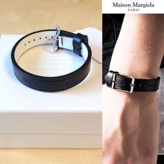 マルタンマルジェラ(Maison Martin Margiela)の新品 M 20ss マルジェラ シングルレザーブレスレット 黒 462(ブレスレット)