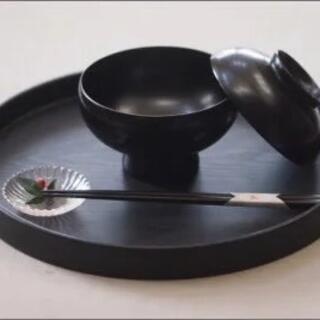 赤木明登 蓋付飯椀2点セット①(食器)