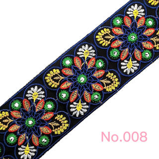 刺繍リボン  チロリアンテープ エスニック  No.008(各種パーツ)