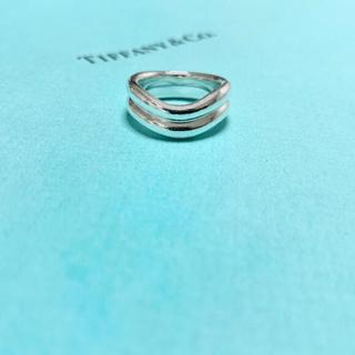 Tiffany & Co. - 【希少】Tiffany & Co. ダブルカーブリング 指輪 12号 シルバー