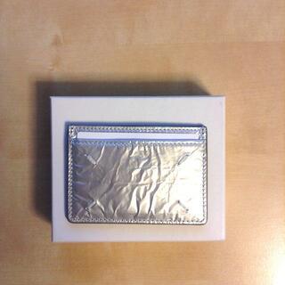 マルタンマルジェラ(Maison Martin Margiela)の新品 21ss マルジェラ ブランド ロゴ パスケース 銀 632(名刺入れ/定期入れ)