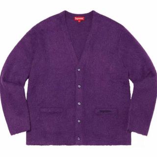 Supreme - supreme mohair cardigan purple L