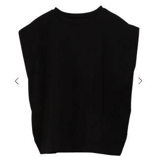 eimy istoire - eimyistoire パワーショルダーTシャツ ブラック