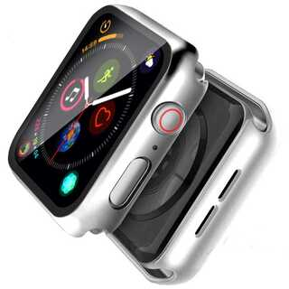 【A65】Apple Watch 画面保護ケース 耐衝撃 40mm(シルバー)(その他)